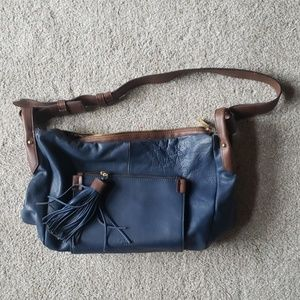 Perlina new York leather blue purse